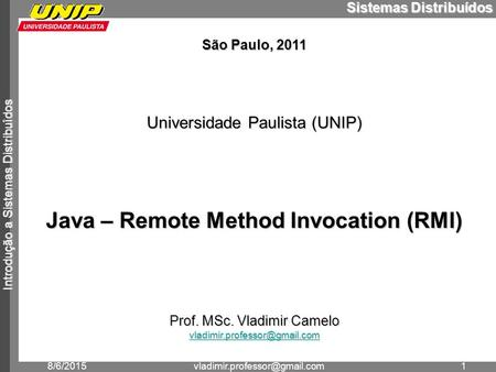 Java – Remote Method Invocation (RMI)
