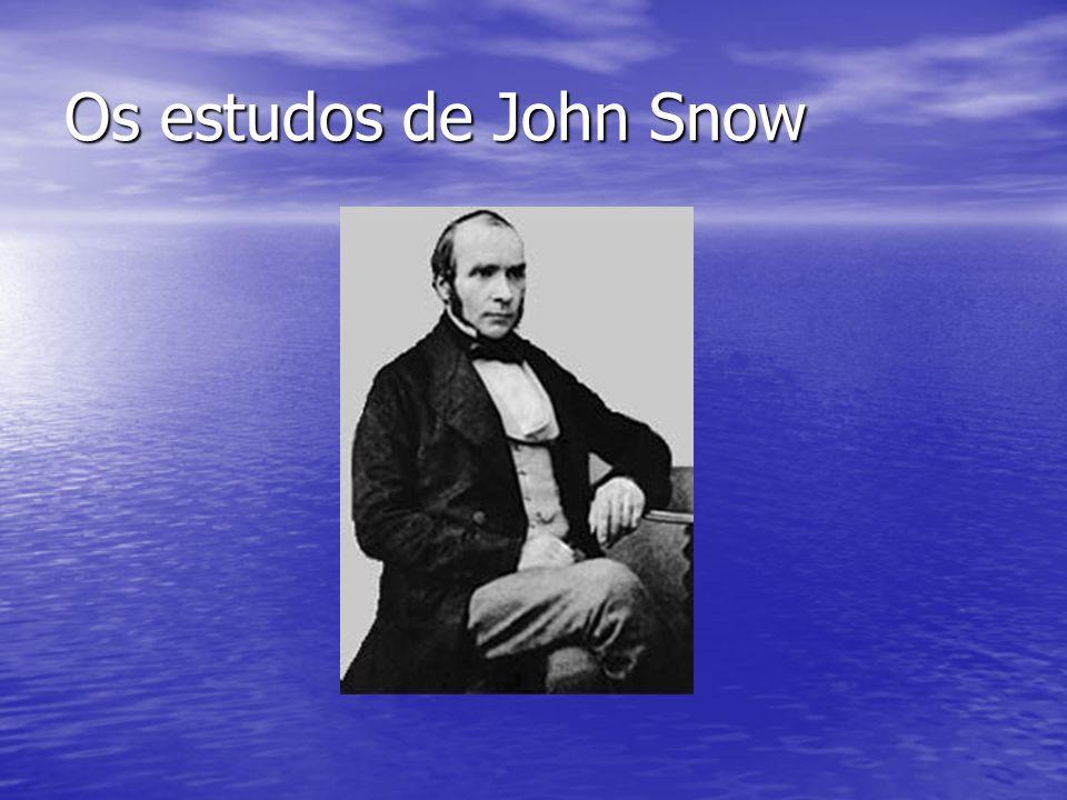 John Snow era um médico anestesista Publicou inúmeros trabalhos sobre o uso do éter e clorofórmio.