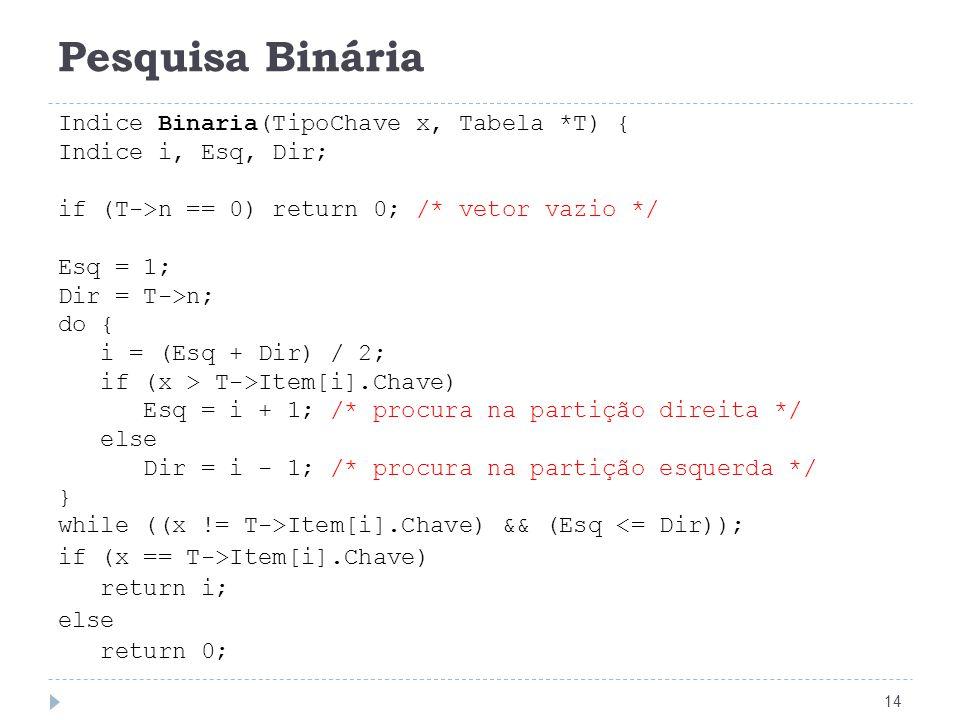 Pesquisa Binária 15