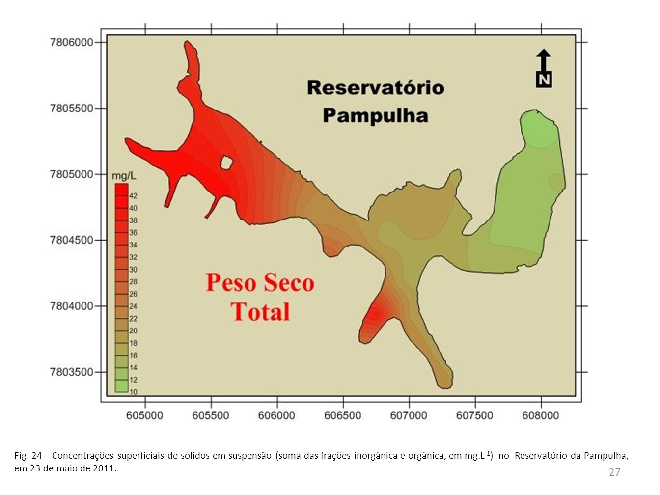 28 Fig.25 - A má gestão do lixo urbano e resíduos industriais levaram a um quadro de contaminação por metais traços (pesados) nesse ambiente (Pinto-Coelho, 2009).