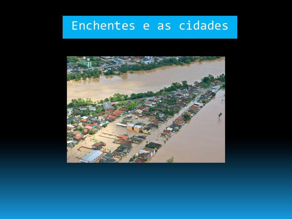 Asfalto, enchentes e automóveis O asfalto (impermeabilização) causa as enchentes que levam os automóveis à jusante