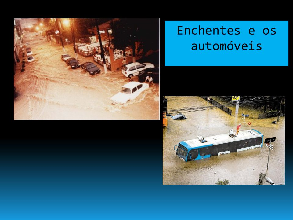 Enchentes e as favelas