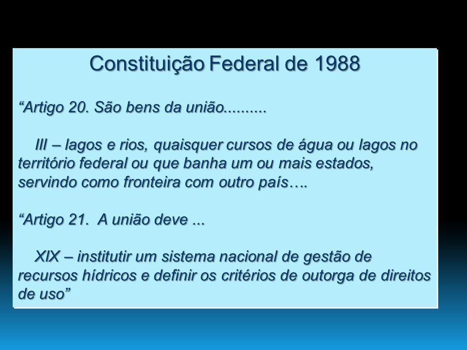 Base Legal do Gerenciamento de recursos Hídricos no Brasil Pinto-Coelho 2009