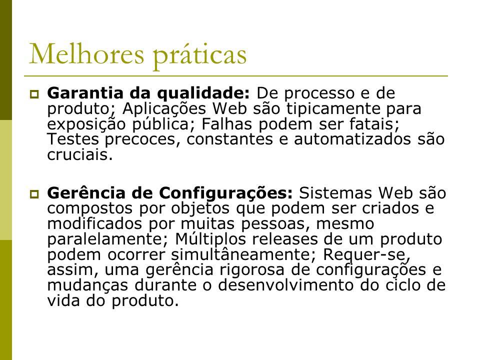 Conclusão O RUP é uma boa fundação para o desenvolvimento de aplicações Web.