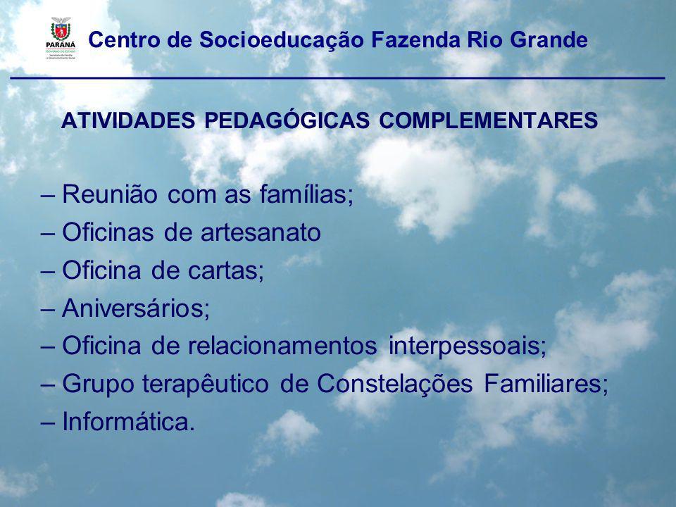 Centro de Socioeducação Fazenda Rio Grande ____________________________________________________ ATIVIDADES PEDAGÓGICAS COMPLEMENTARES OFICINA DE GOLF-7
