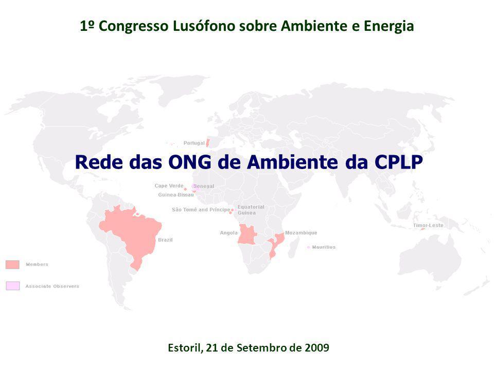 1º passo - Luanda - Abril de 2008 Representantes das redes de Organizações Não Governamentais da CPLP na área do ambiente decidem constituir: Comissão Instaladora da Rede das ONG ambientais da CPLP, com sede provisória em Lisboa Histórico