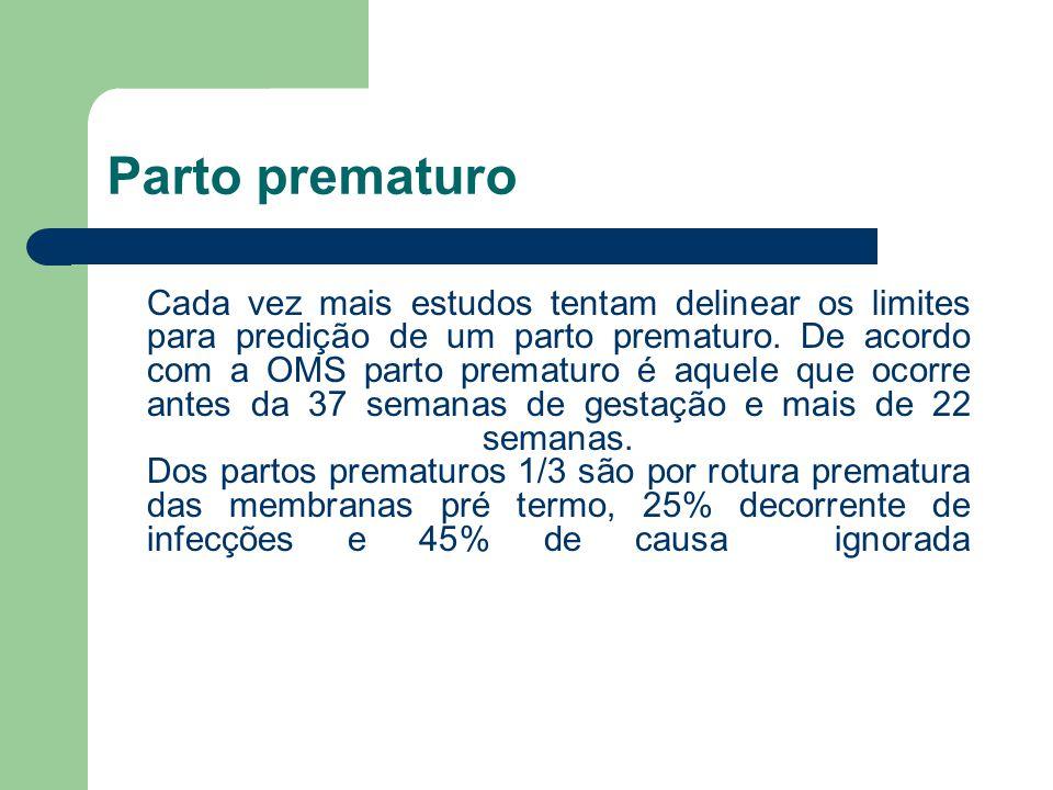 Parto prematuro FATORES DE RISCO PARA PREMATURIDADE Infecções urinárias.