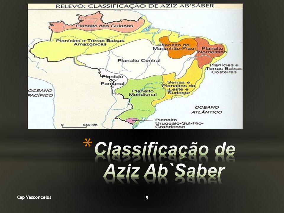 No final dos anos 1950 surgiu uma nova classificação de relevo para o Brasil, elaborada pelo geógrafo e geomorfólogo Aziz Nacib Ab Sáber.