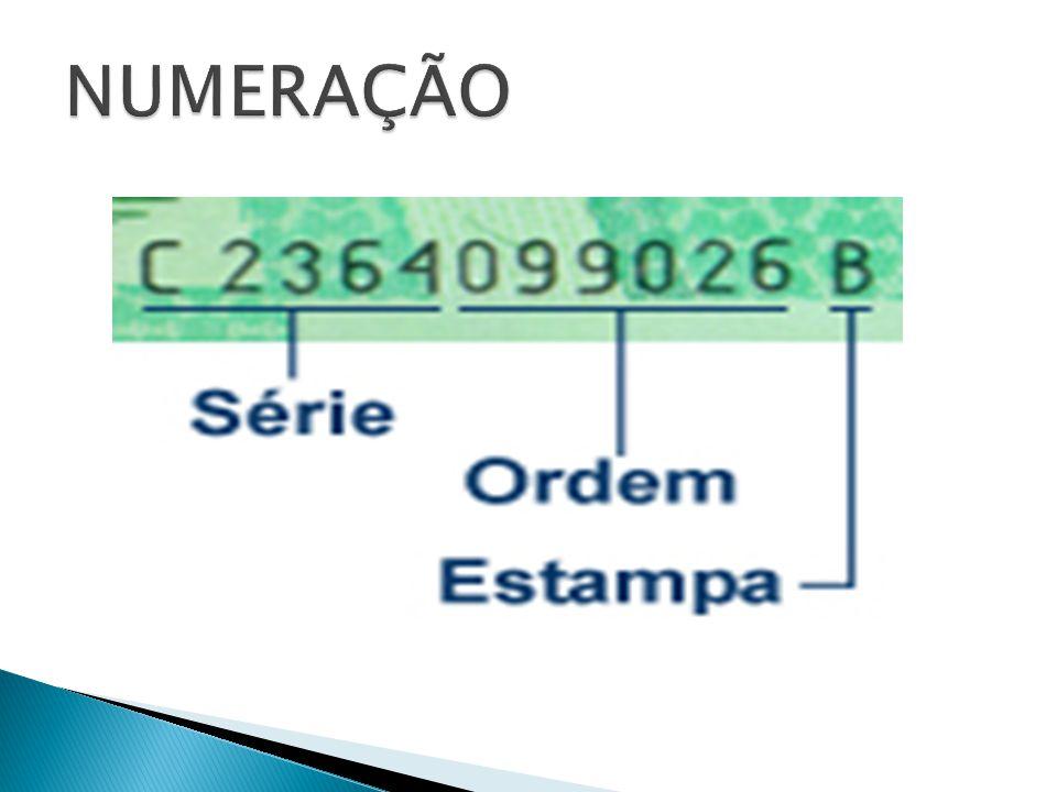 O código padrão utilizado em cédulas, possui o objetivo de garantir a legitimidade e a autenticidade das notas.