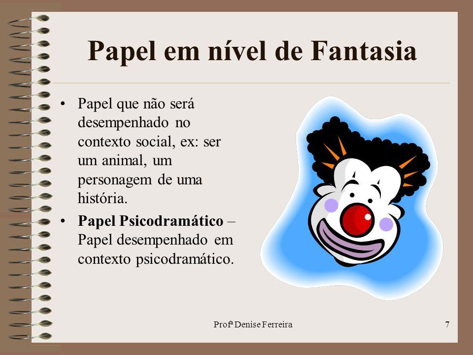 Profª Denise Ferreira8 Desempenho de Papéis 1.O indivíduo assume o papel.