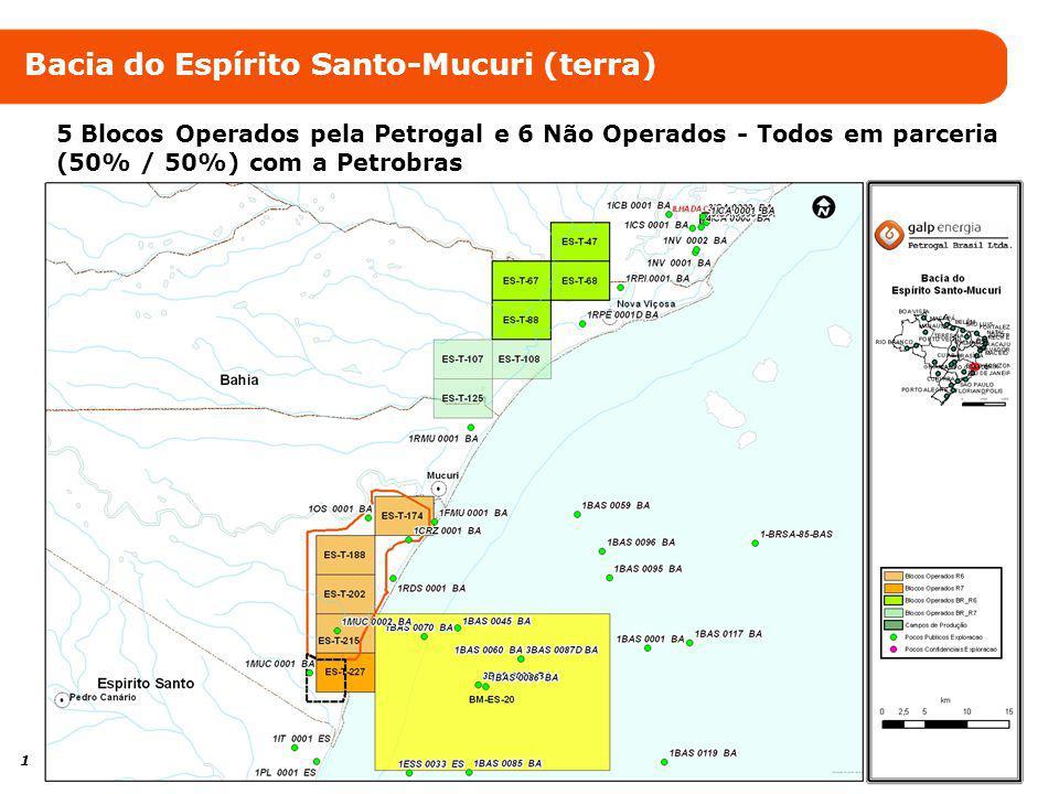 13 Bacia do Espírito Santo-Mucuri (mar) 20% de participação no bloco ES-M-592 (águas profundas)