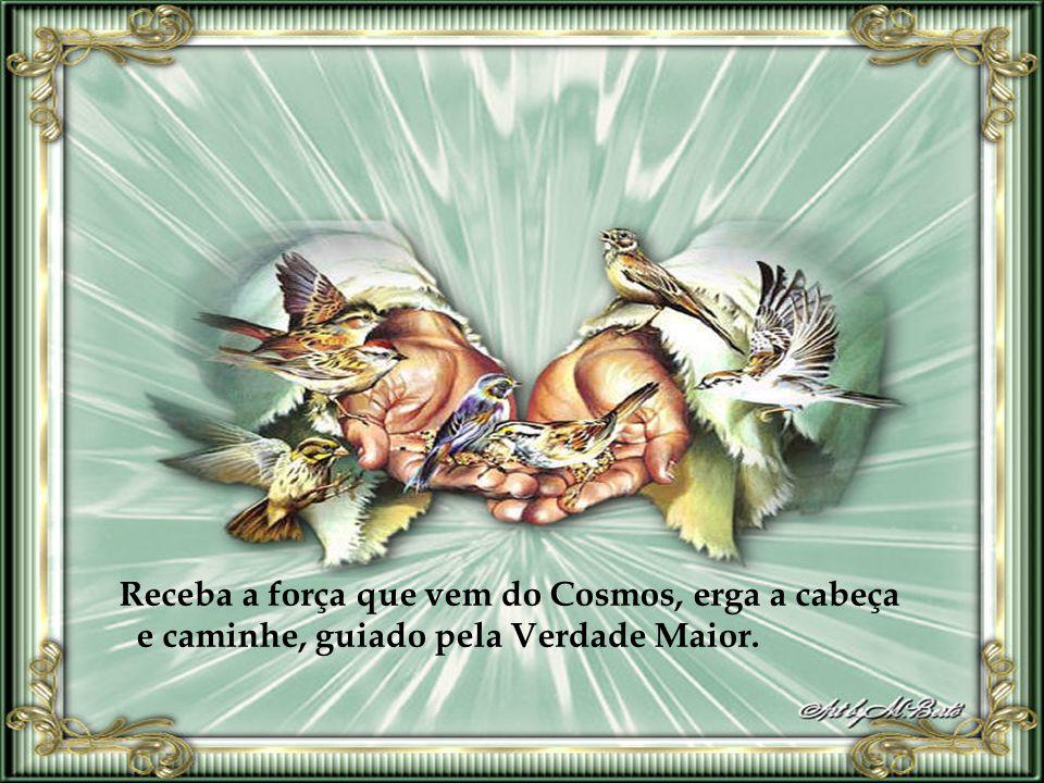 Receba a força que vem do Cosmos, erga a cabeça e caminhe, guiado pela Verdade Maior.