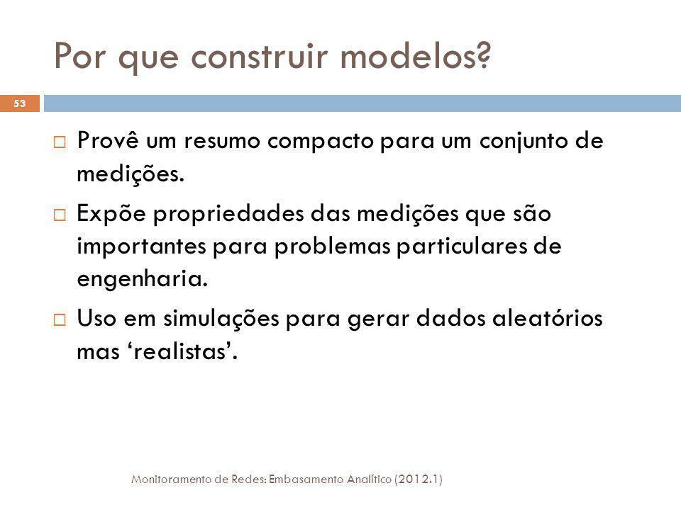 Uso de Modelos Probabilísticos As propriedades dos dados são por definição quantidades observáveis.