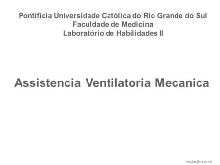 Assistencia Ventilatoria Mecanica