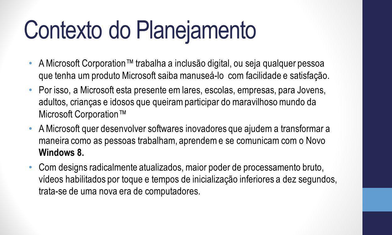 Windows 8 ® R$359,00 Concorrente - Mac OS X 10.6 Snow Leopard Preço: R$59,00 Produto