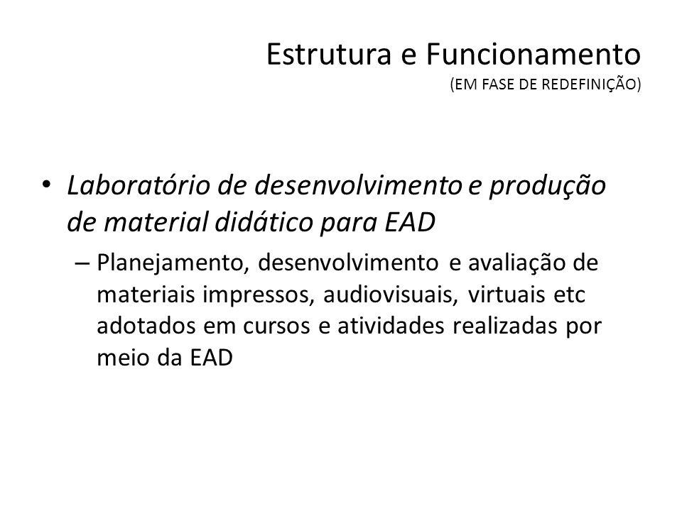 Algumas Ações Formulação de referenciais para oferta e avaliação de cursos e de disciplinas na modalidade EaD na UFSCar (Ex.