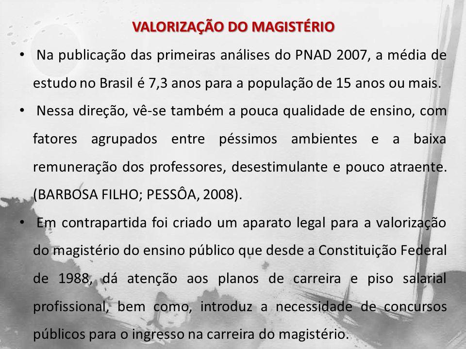 VALORIZAÇÃO DO MAGISTÉRIO - FUNDEF O Fundo de Manutenção e Desenvolvimento do Ensino Fundamental e de Valorização do Magistério (FUNDEF), criado e aprovado pela Emenda Constitucional n° 14 em 1996 e regulamentado pela Lei nº 9.424/96 tinha por finalidade a reorganização da redistribuição dos recursos para a manutenção e desenvolvimento do Ensino Fundamental, dando ênfase à valorização do magistério.