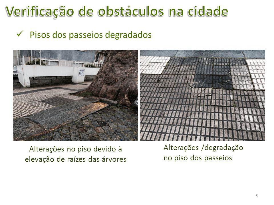 7 Passeio da Rua 25 de AbrilPasseio da Rua 31 de Janeiro Obstáculos nos passeios; Limites das vedações descuidados (com silvas,…)