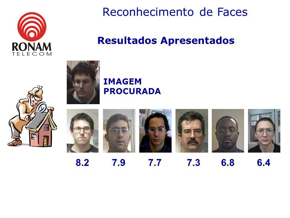 Resultados Apresentados IMAGEM PROCURADA 8.27.97.77.36.86.4 Reconhecimento de Faces