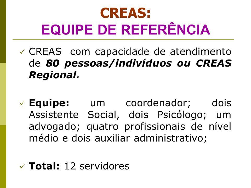 CENSO SUAS - CREAS 2009 Do total de 1.200 CREAS pesquisados no Brasil no ano de 2009, se identificou que: 13% dos CREAS existentes atendem a NOB- RH 87% dos CREAS existentes não atentem a NOB-RH OBS: Região Sul – somente 7% dos CREAS atendem as exigências