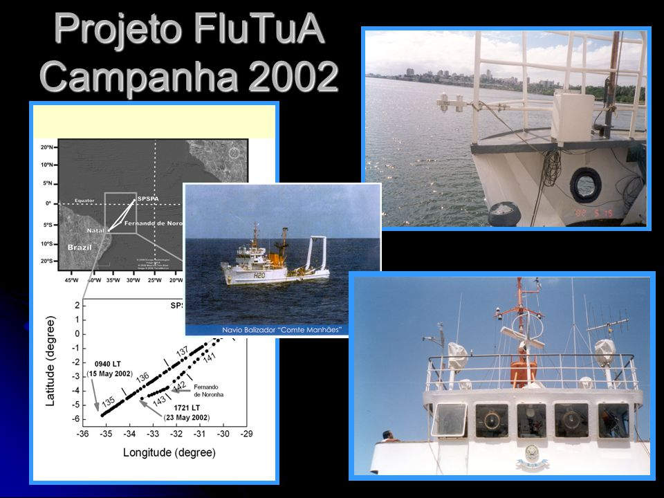 61 Radiação líquida sobre o Atlantico Bacellar, S., Oliveira, A.P., Soares, J., and Servain, J., 2008: Assessing the diurnal evolution surface radiation balance over the Tropical Atlantic Ocean using in situ measurements carried out during the FluTuA Project.