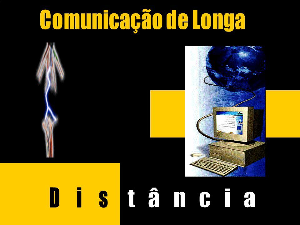 Comunicação de Longa Distância MODEM É o dispositivo que converte os sinais digitais gerados pelo computador em sinais analógicos modulados (para permitir a sua transmissão por linhas telefônicas).