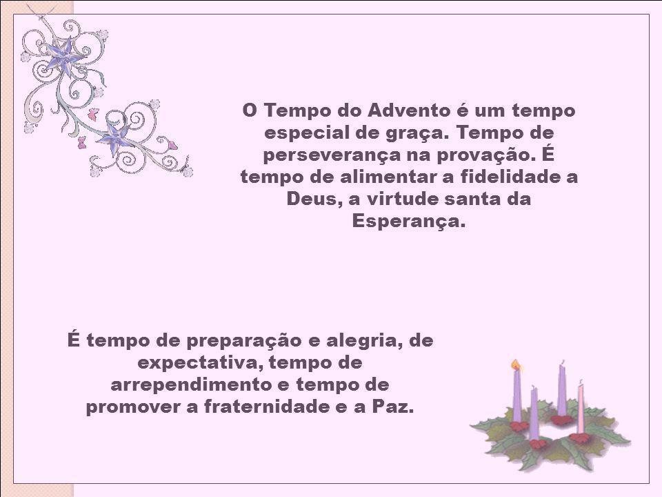 O Tempo do Advento tem duas características: É tempo de preparação para a solenidade do Natal, em que se recorda a primeira vinda do Filho de Deus entre os homens e é tempo no qual, através desta recordação, o espírito é conduzido à espera da segunda vinda de Cristo no fim dos tempos.