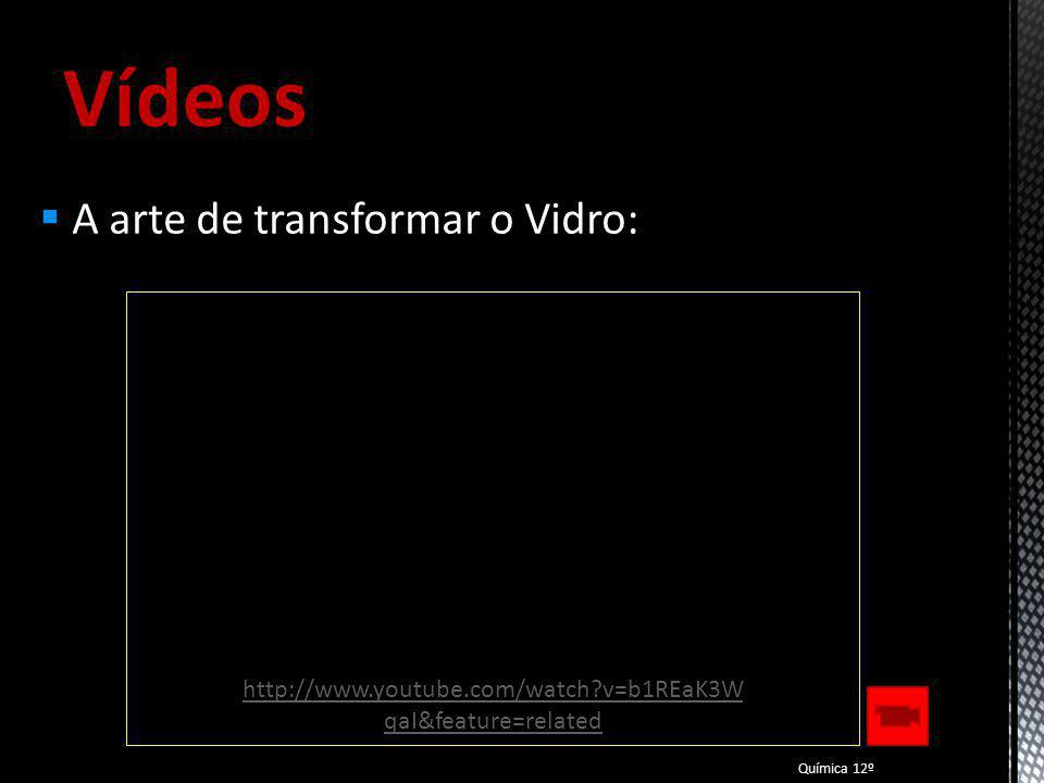 Vídeos A arte de transformar o Vidro: Química 12º http://www.youtube.com/watch?v=b1REaK3W qaI&feature=related