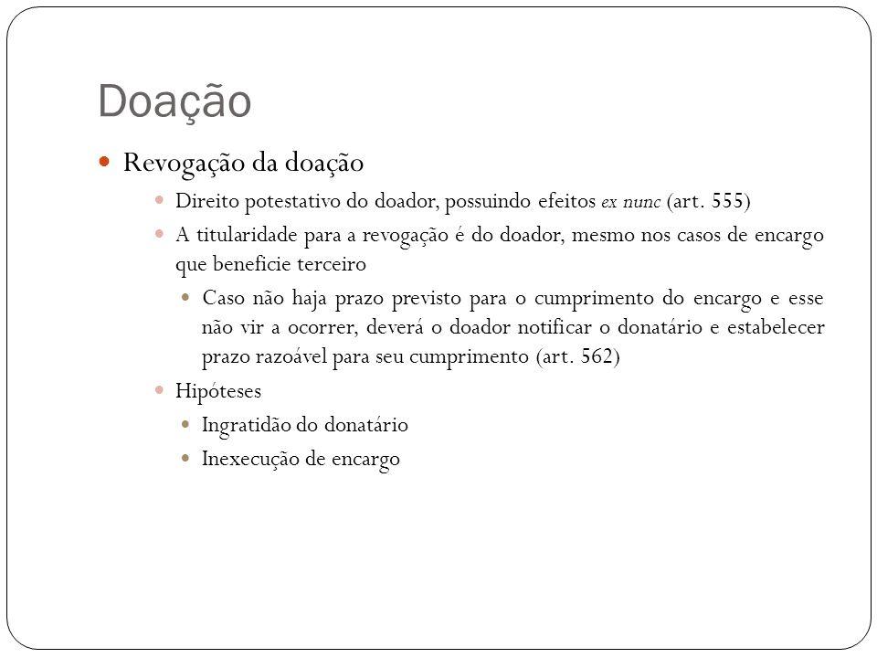 Doação Hipóteses de ingratidão (art.