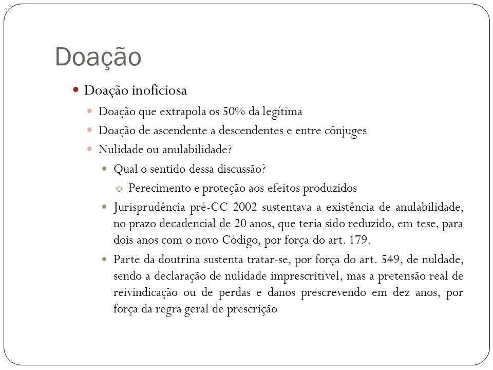 Doação Doação universal (art.