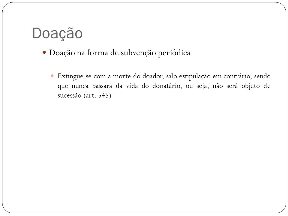 Doação Doação entre concubinos (art.
