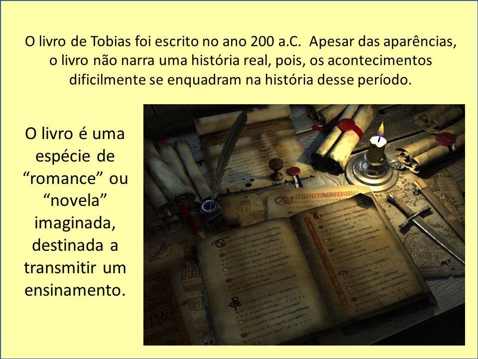 A história conta a viagem que Tobias faz, a pedido de seu pai cego, para cobrar uma dívida antiga de um amigo.