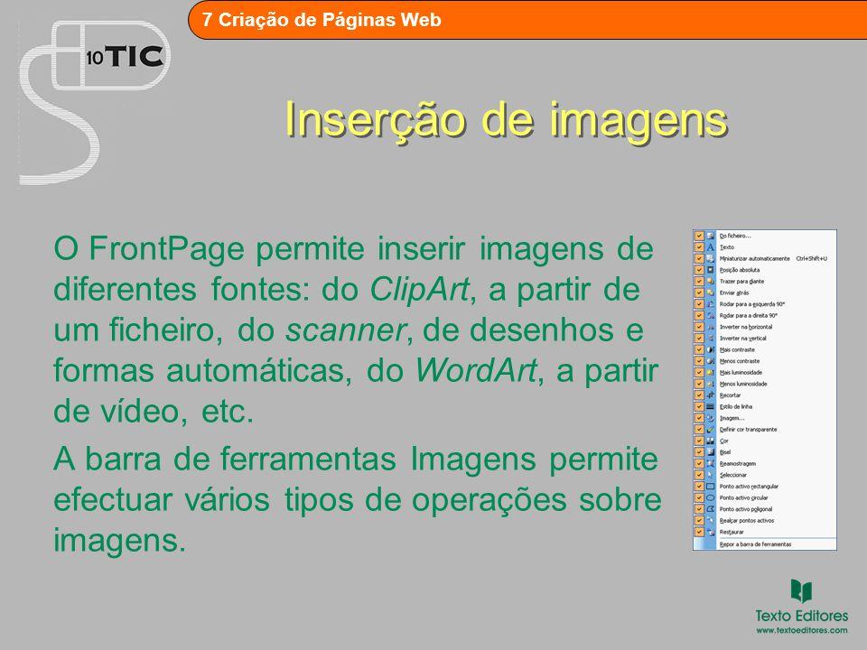 7 Criação de Páginas Web Adição de som de fundo Para se adicionar um som que se ouvirá quando se abrir a página, activar o menu de atalho da página e seleccionar Propriedades da página.