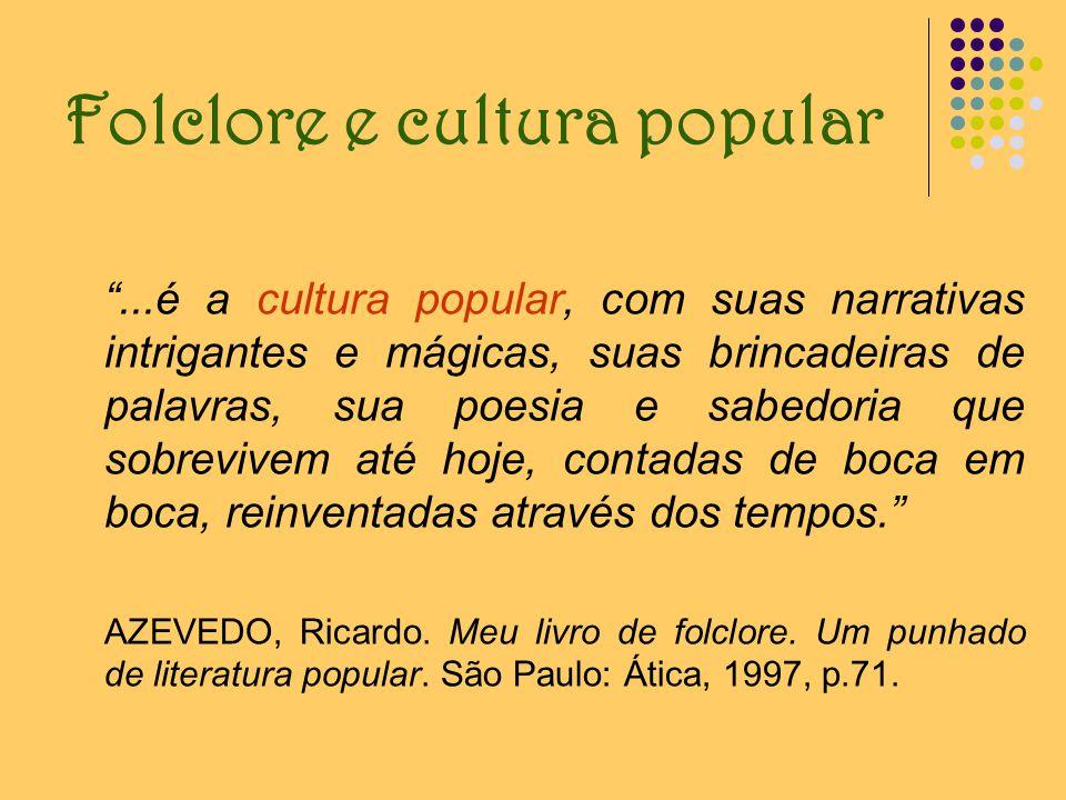 O caráter do folclore Popular Anonimato Tradicional* * O conceito de tradicional tem sido revisto por alguns folcloristas, em face de um novo aspecto.