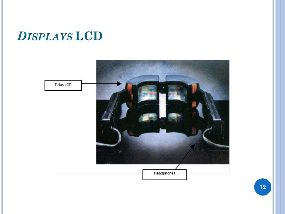 D ISPLAYS OLED São baseados em diodos orgânicos emissores de luz; Não necessitam de luz traseira para funcionar, Um menor consumo de energia à baixa voltagem; 13