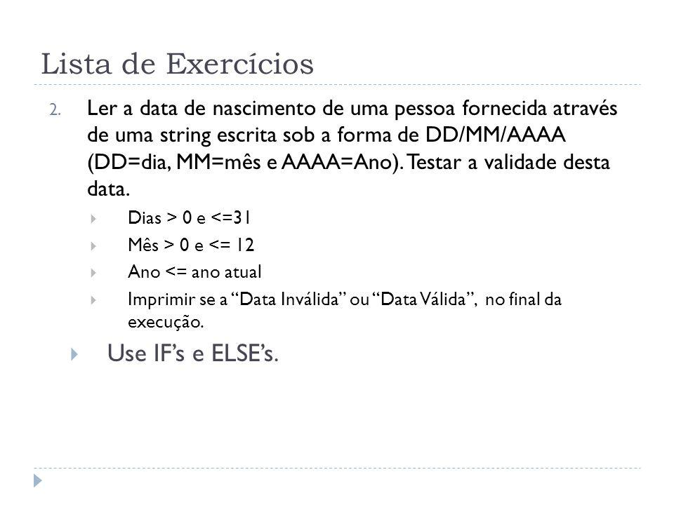 Dicas Exercício 2