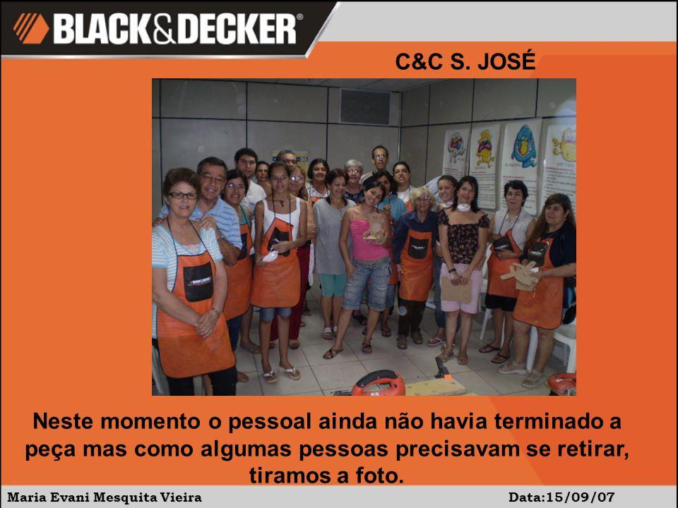Maria Evani Mesquita Vieira Data:15/09/07 C&C S. JOSÉ Projeto feito: CADEIRINHA DE BALANÇO