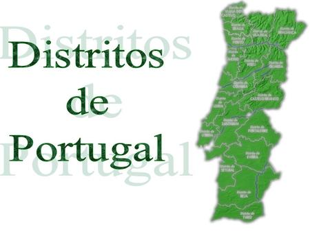 Distritos de Portugal.