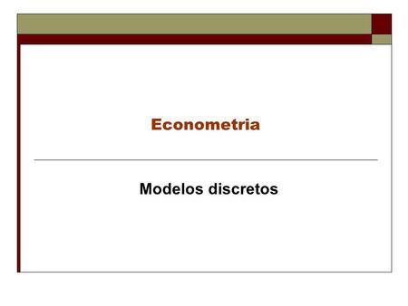 Apresentacoes econometria
