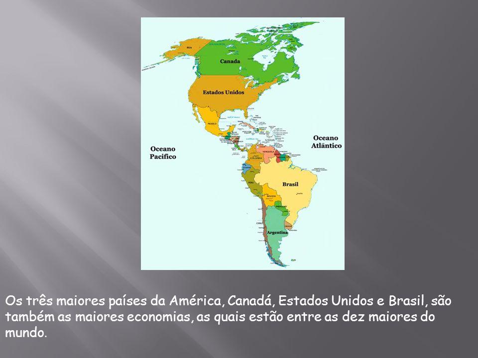 Com uma área de 42 189 120 km² e uma população de mais de 902 milhões de habitantes, localizada entre o oceano Pacífico e o Atlântico, a América inclui o Mar do Caribe e a Groenlândia, mas não a Islândia, por razões históricas e culturais.