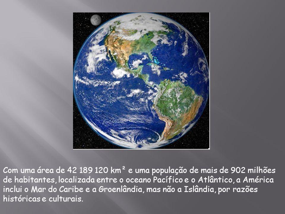 Também é conhecida pela expressão Novo Mundo , pois entre o século XIV e XV ela foi descoberta por outros povos, após esse acontecimento a Europa era considerada o Velho Mundo , e à Oceania, chamada de Novíssimo Mundo .