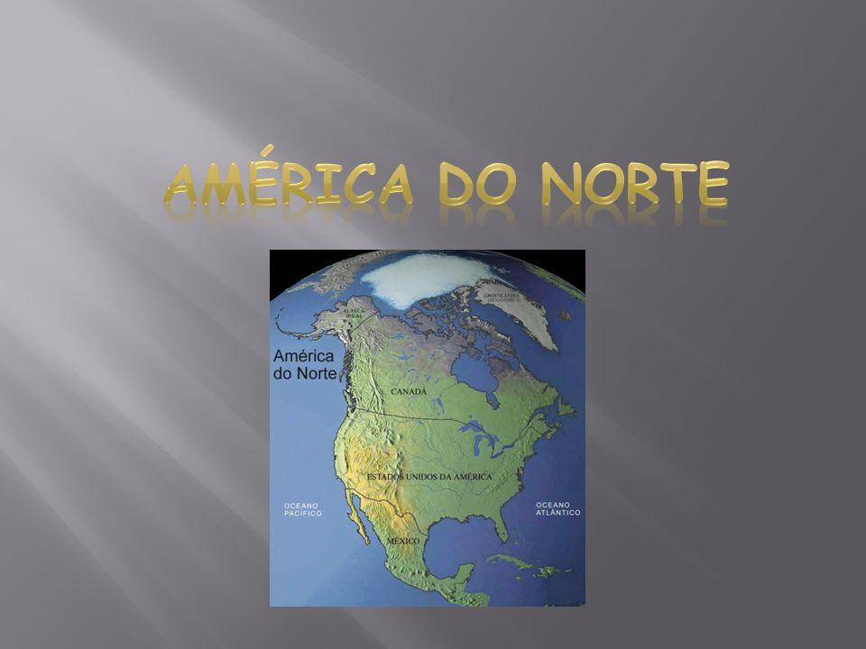 América do Norte: Existem duas formas de classificar esse continente: a primeira considera que a América do Norte é separada da América Central na fronteira entre o México e a Guatemala, a segunda classificação reconhece apenas uma América do Norte e uma América do Sul, traçando o limite no Istmo do Panamá.