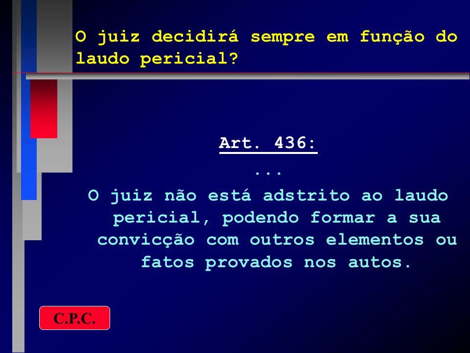 O juiz pode determinar nova perícia.Art. 437:...