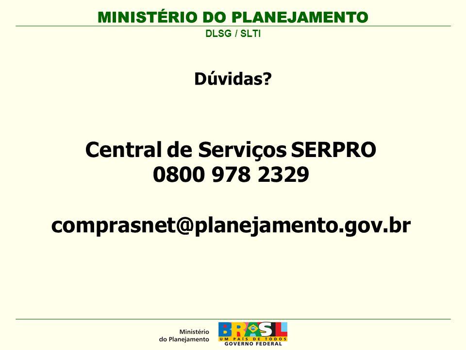 MINISTÉRIO DO PLANEJAMENTO Manual do Sistema de Cartão de Pagamentos - SCP http://www.comprasnet.gov.br/ Menu Publicações | Manuais | Cartão de Pagamento Perguntas e Respostas sobre Suprimento de Fundos e CPGF – CGU http://www.cgu.gov.br/Publicacoes/SuprimentoFundos Portal da Transparência – CGU http://www.portaldatransparencia.gov.br MINISTÉRIO DO PLANEJAMENTO DLSG / SLTI Material de Referência