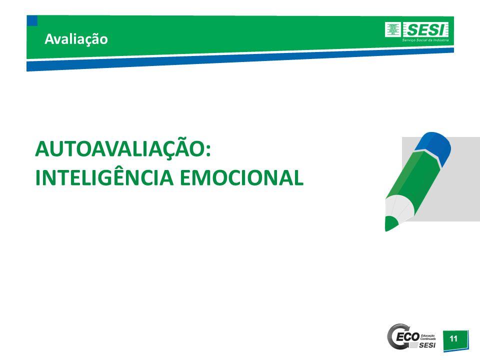 12 Inteligência Emocional Autopercepção/autoconhecimento; Autocontrole; Automotivação; Empatia; Práticas sociais.