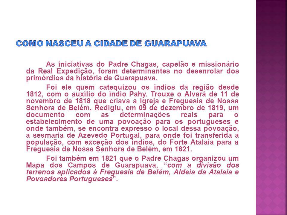 Há muito tempo, bem antes dos portugueses chegarem aqui, quando não existia a cidade de Guarapuava, tudo era uma imensa área silvestre, com campos, matas, cerrados, e banhados, onde havia muitos animais selvagens.