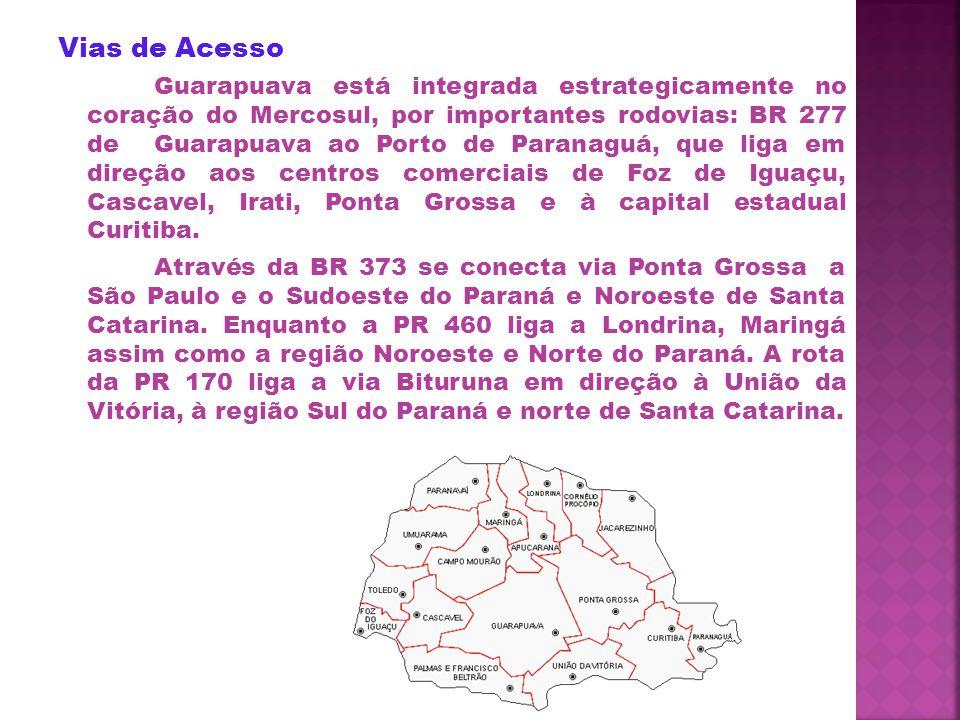 Limites do Município Guarapuava está localizada na região Centro Oeste do Paraná.