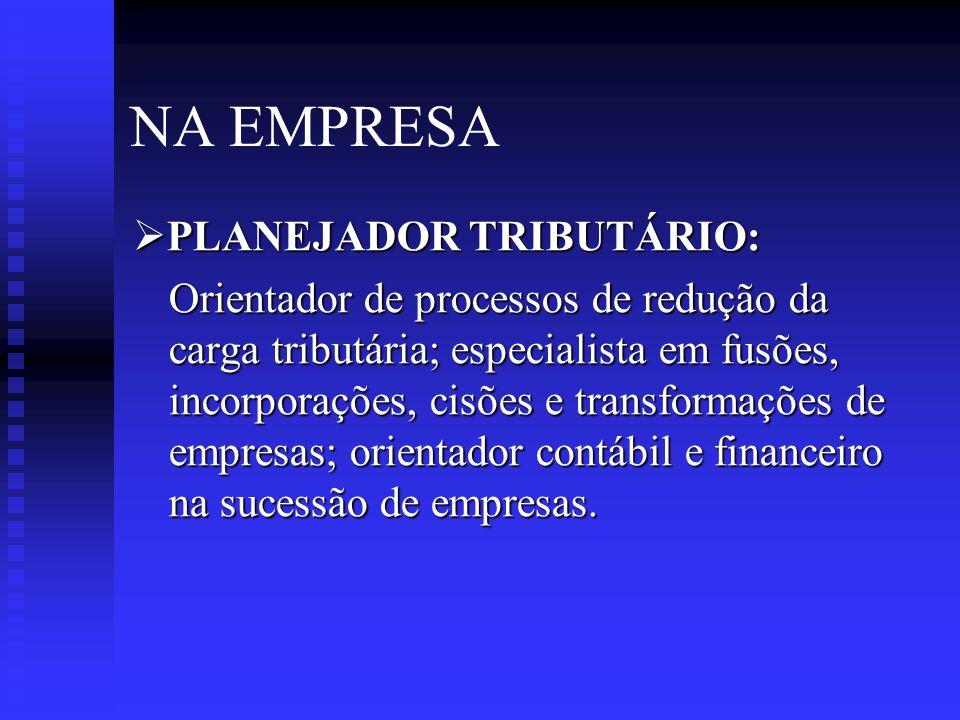 NA EMPRESA  ANALISTA FINANCEIRO: Analista financeiro; de crédito e cobrança; de desempenho operacional; do mercado de capitais; de investimentos; de custos operacionais.