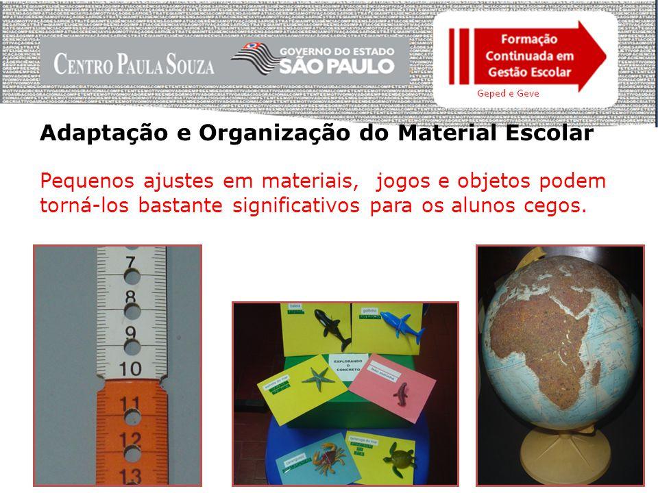 Adaptação e Organização do Material Escolar Materiais para geografia