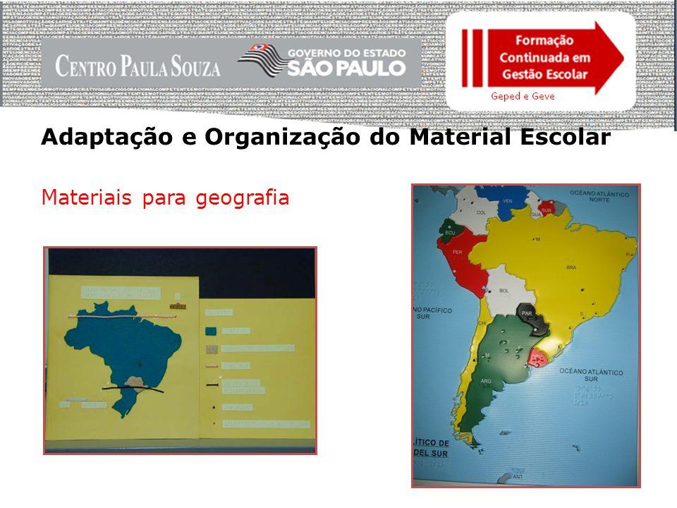 Adaptação e Organização do Material Escolar Prancheta para desenho Instrumentos adaptados para desenho geométrico